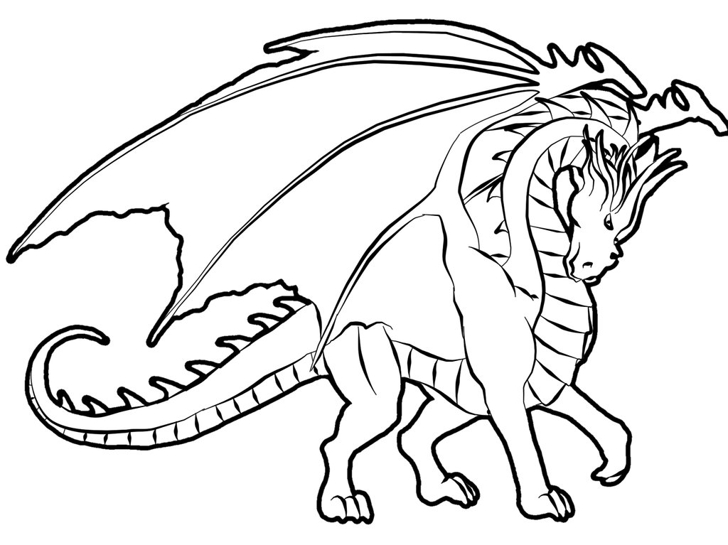Dragon colouring pages 1