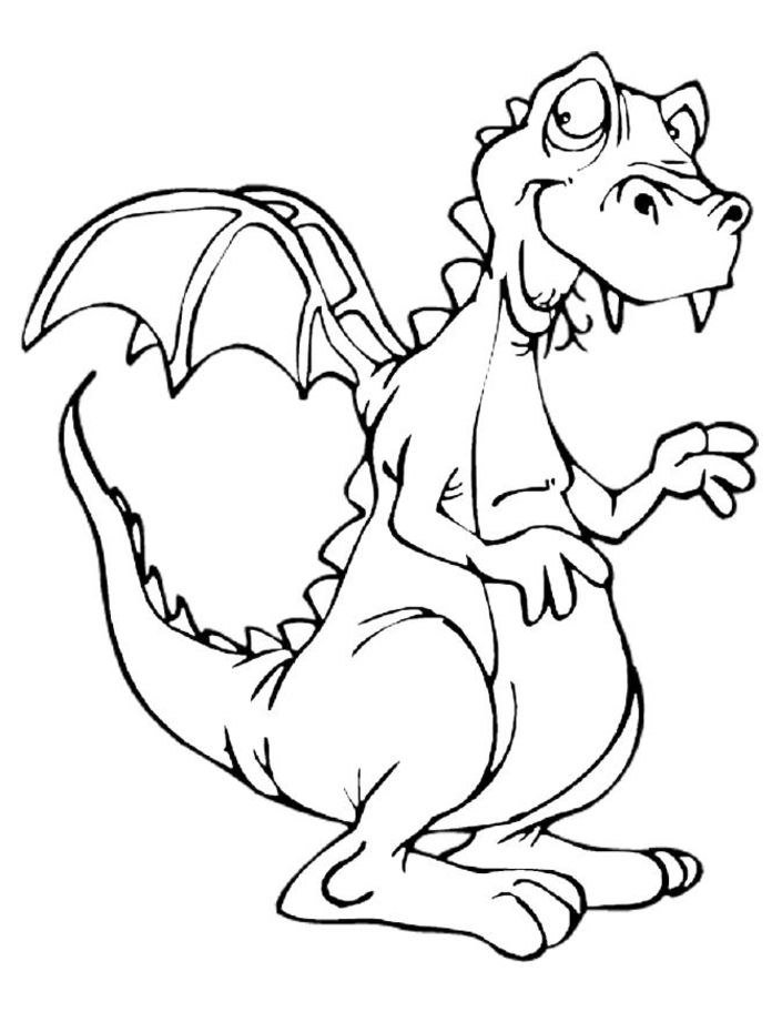 Dragon colouring pages 3