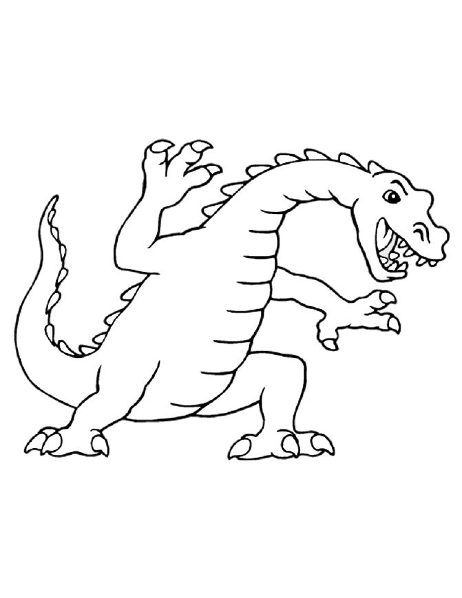 Dragon colouring pages 5