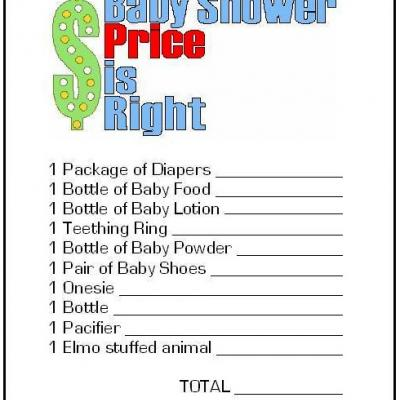 Free Baby Shower Games Printouts 2