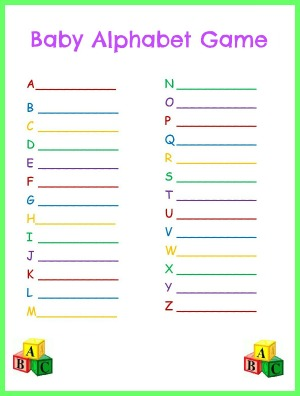Free Baby Shower Games Printouts 3