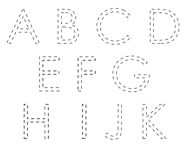 Printable Letters to Trace 3
