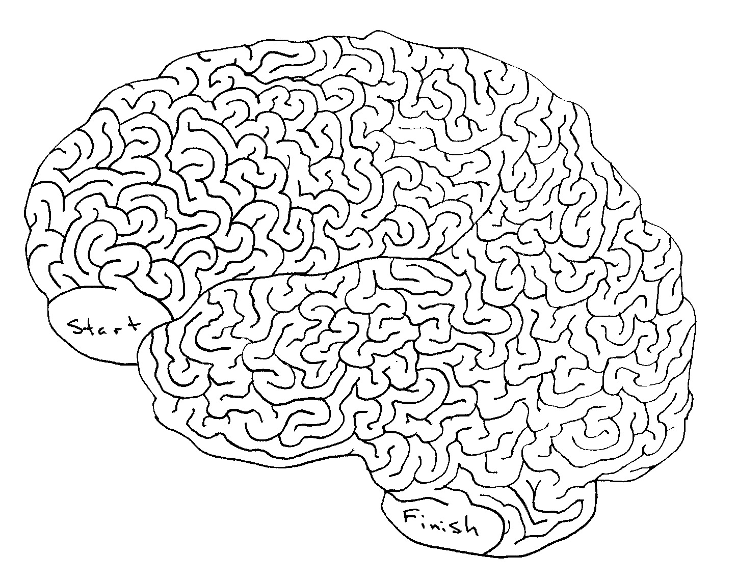 Printable mazes for adults brain