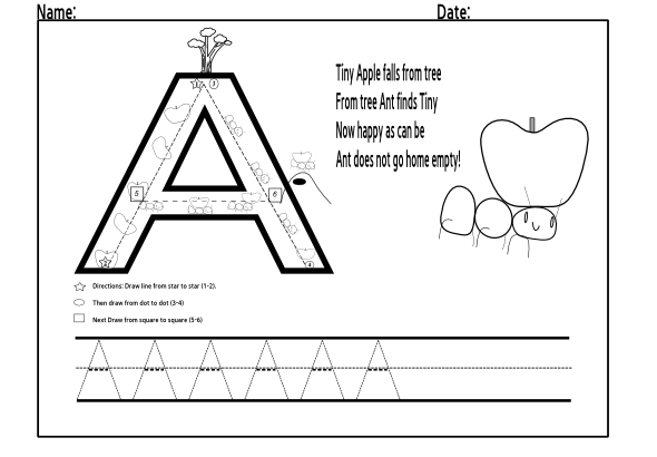 Trace letter A 3