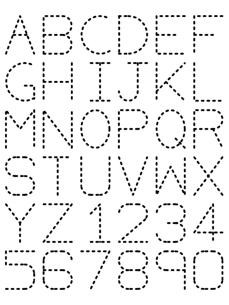 Traceable Alphabet A-Z 1