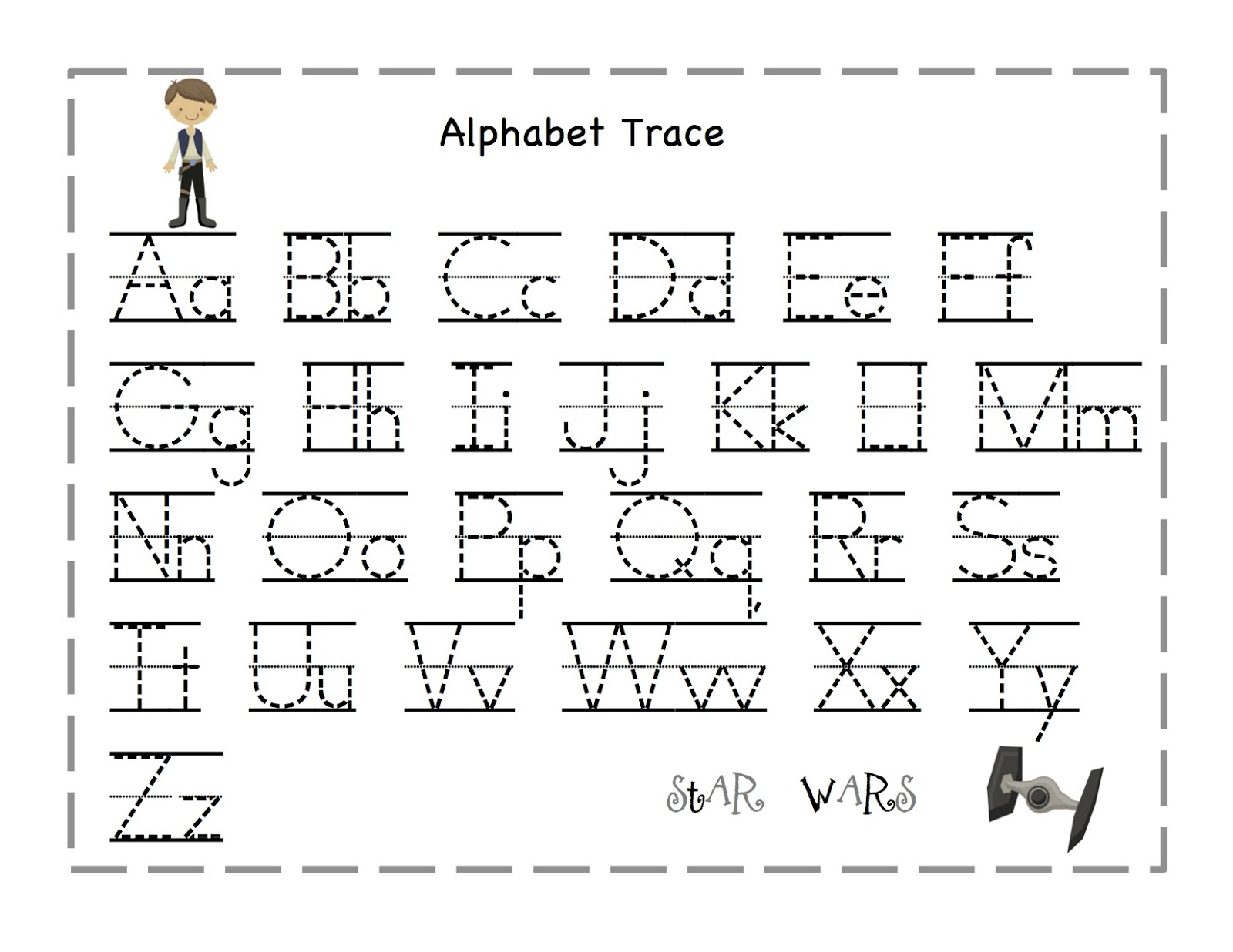 Traceable Alphabet A-Z 3