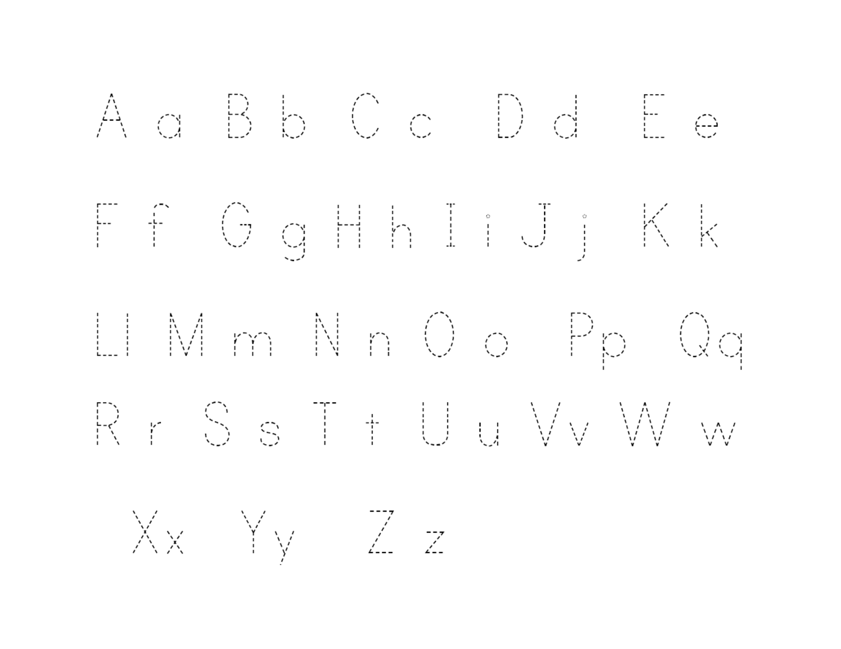 Traceable Alphabet A-Z 4