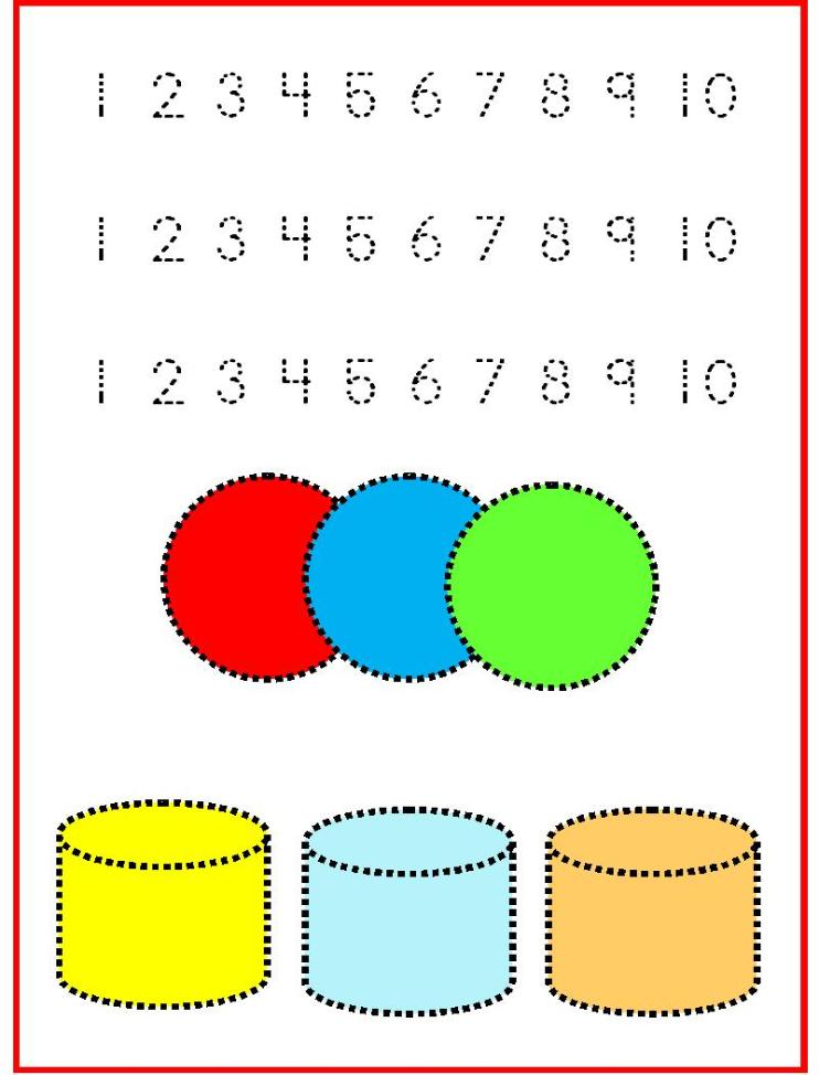 Tracing Numbers 1-10 e