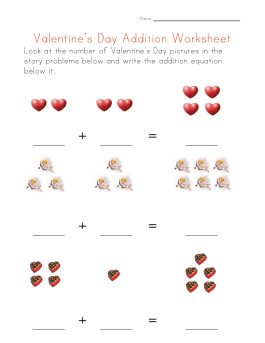 addition worksheets with pictures 2