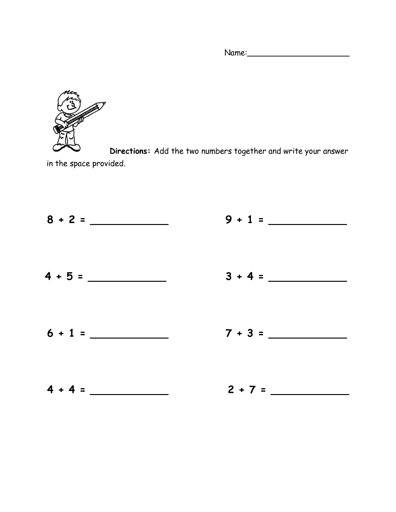 addition worksheets with pictures 3