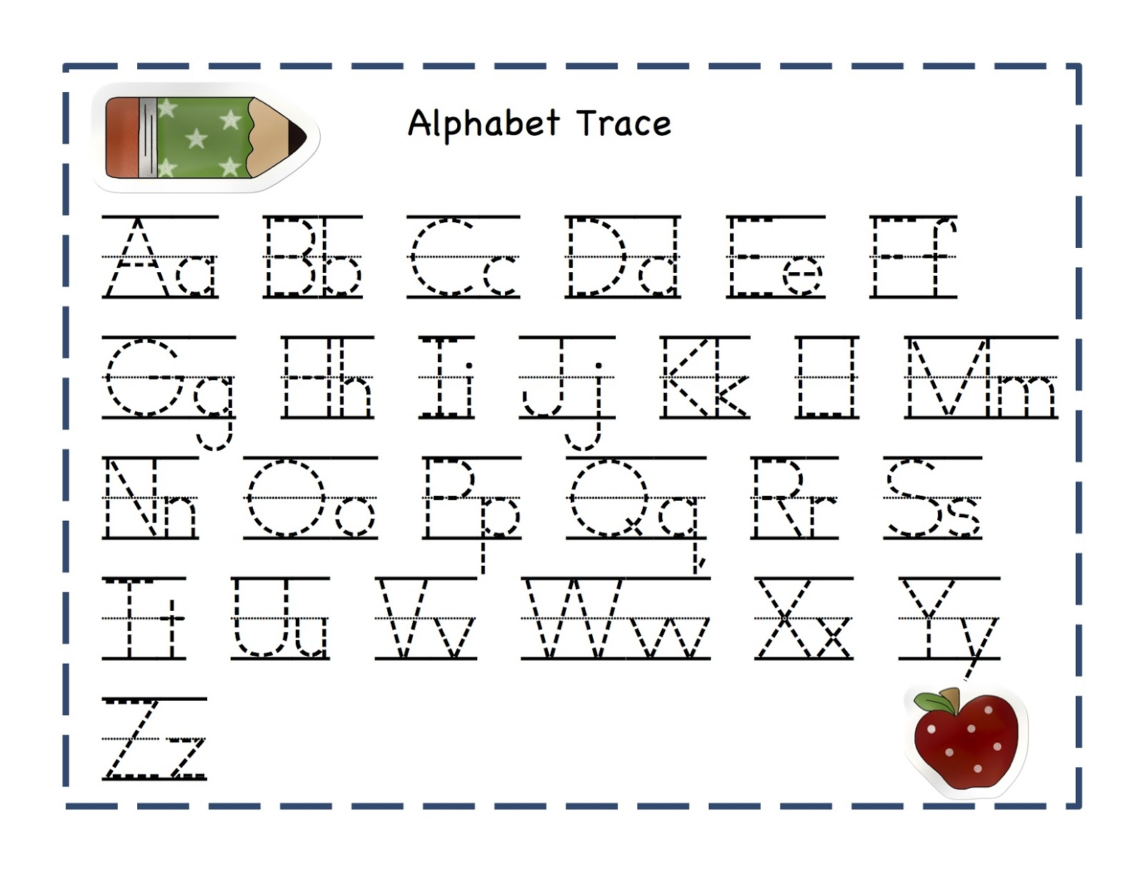 alphabet tracing pages 1