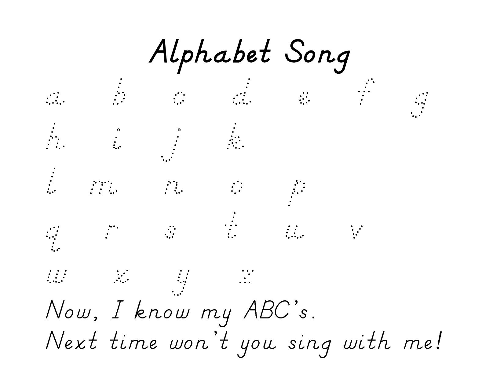 alphabet tracing pages 3