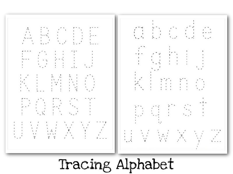 alphabet tracing printables 2