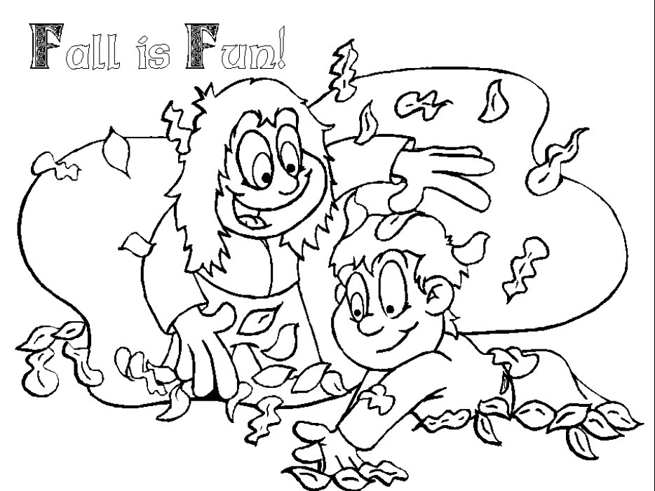 fall coloring sheets 5