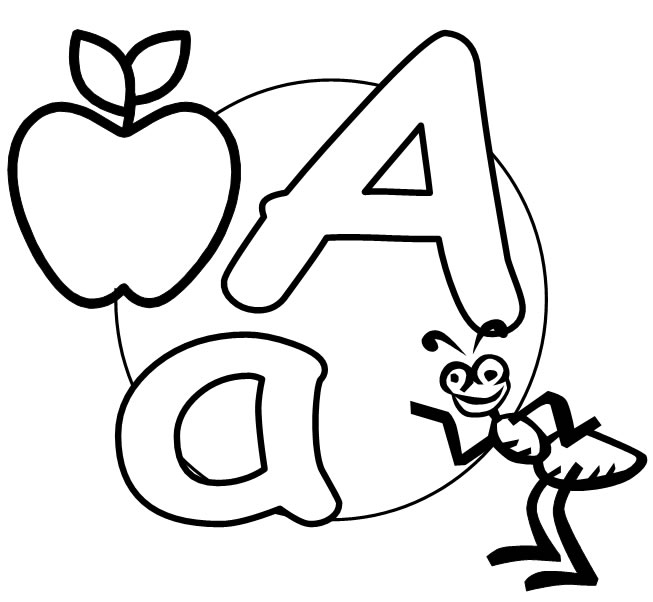 letter a printable 2