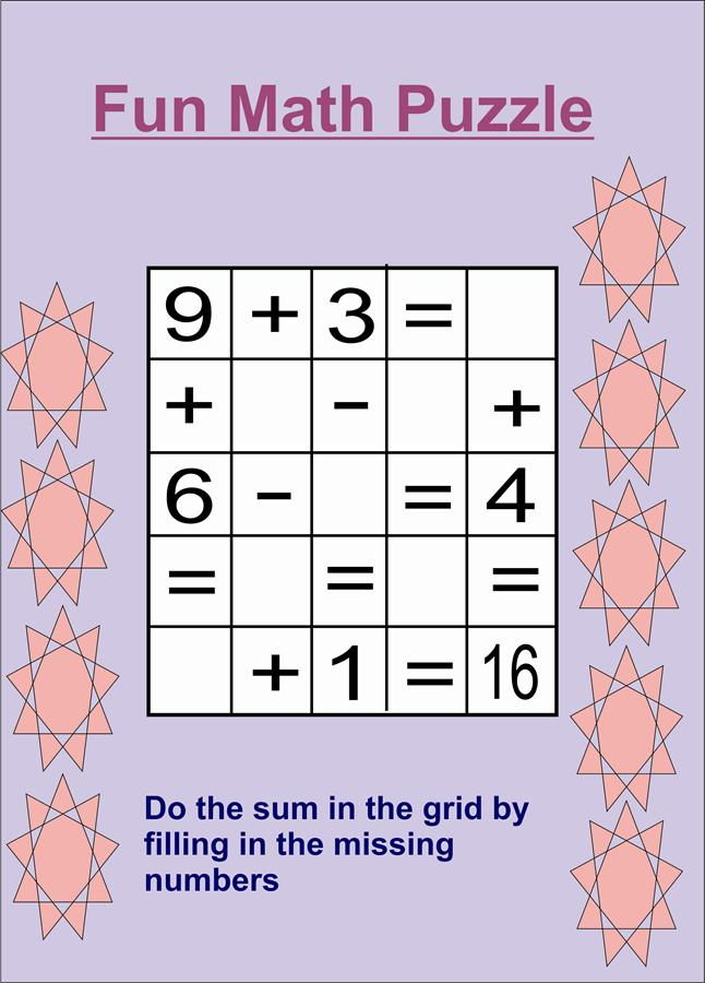 maths puzzles for kids 3