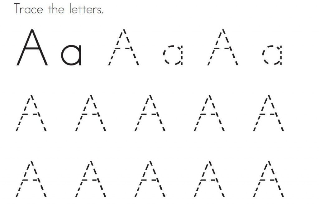 tracing the letter a 1