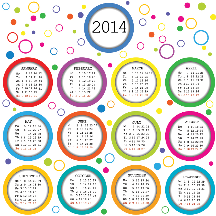 2014 Printable Calendar Pages 3
