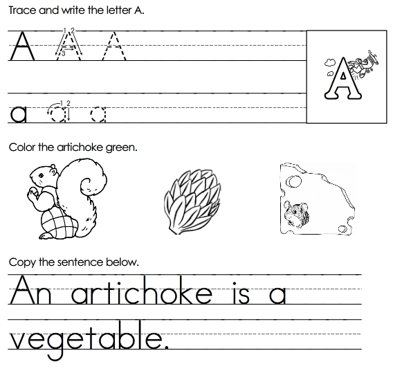 Alphabet Printables Sheets 1