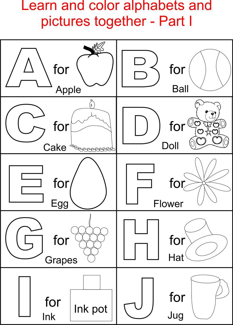 Alphabet Printables Sheets 4