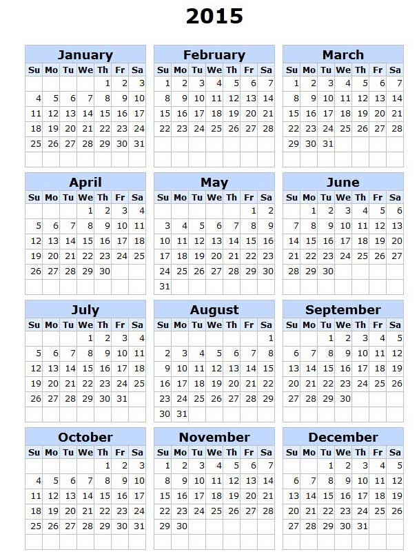 Calendar 2015 for Your Office 1