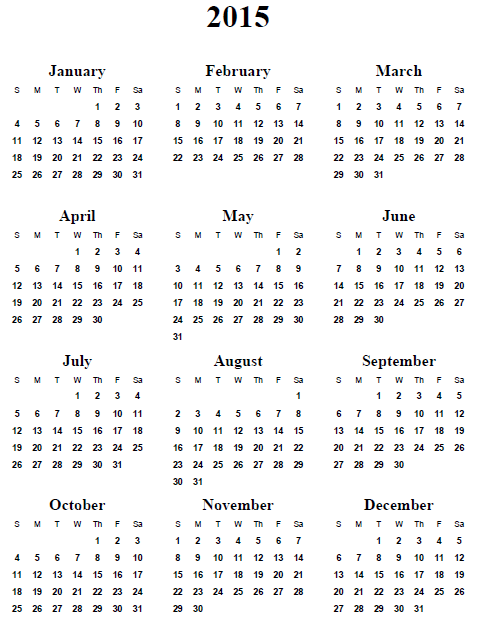 Calendar 2015 for Your Office 4