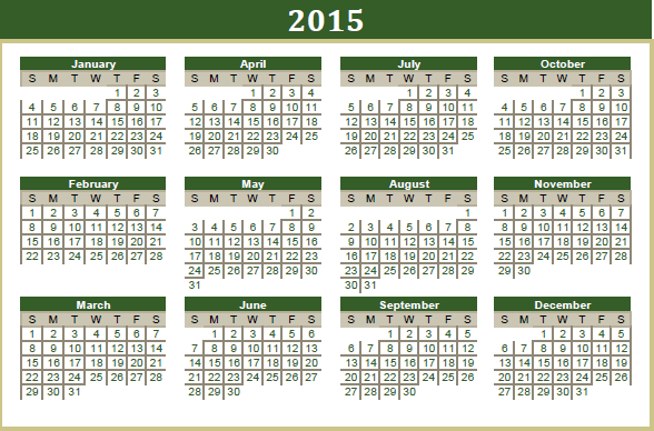 Calendar 2015 for Your Office 6