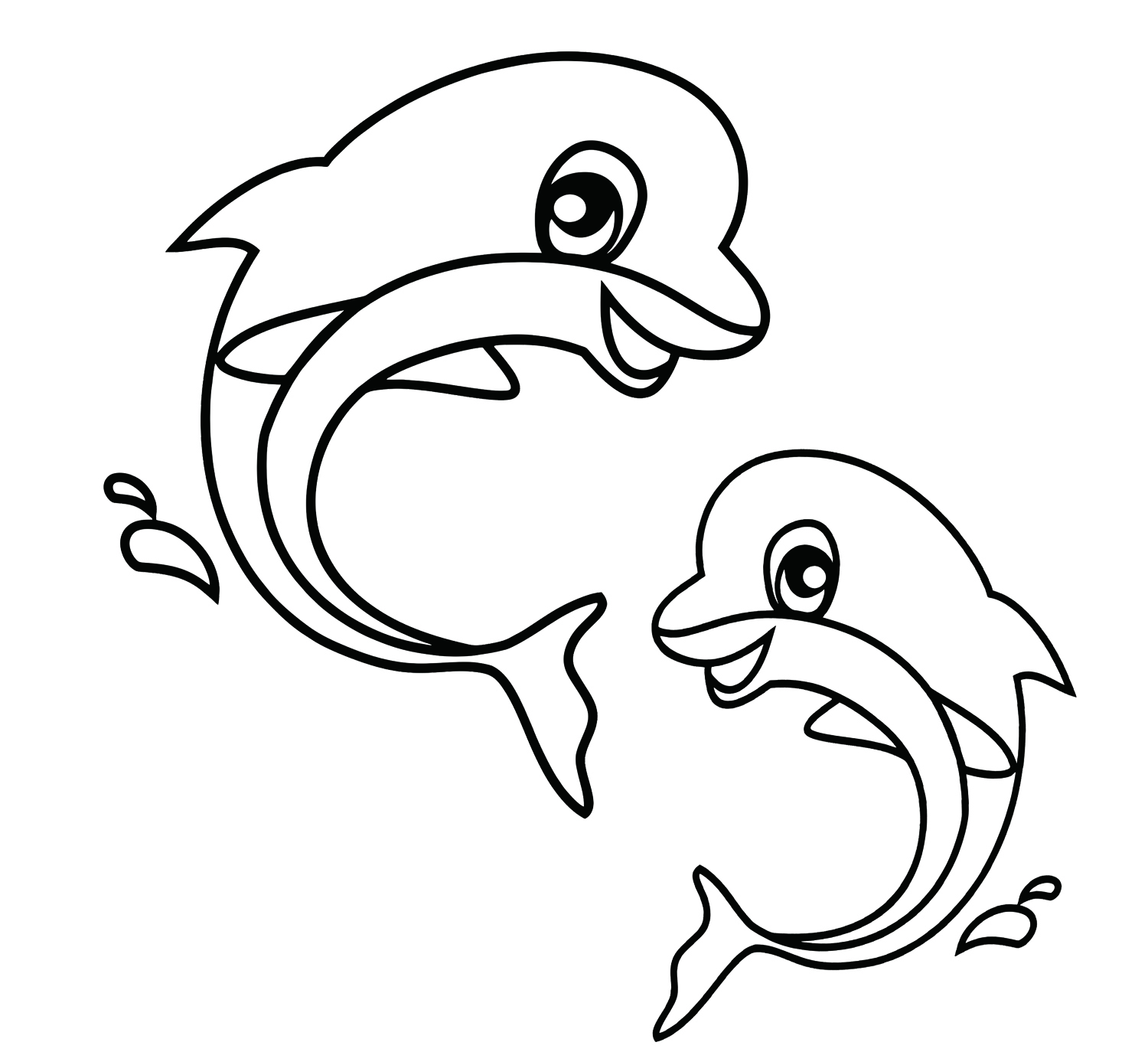 Coloring Book Pages Animals dolphin