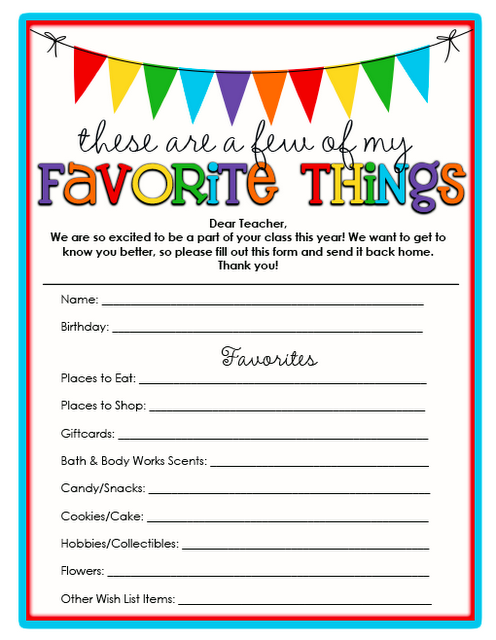 Free Printables for Teachers 1