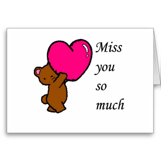 I Miss You Cards for Kids 1