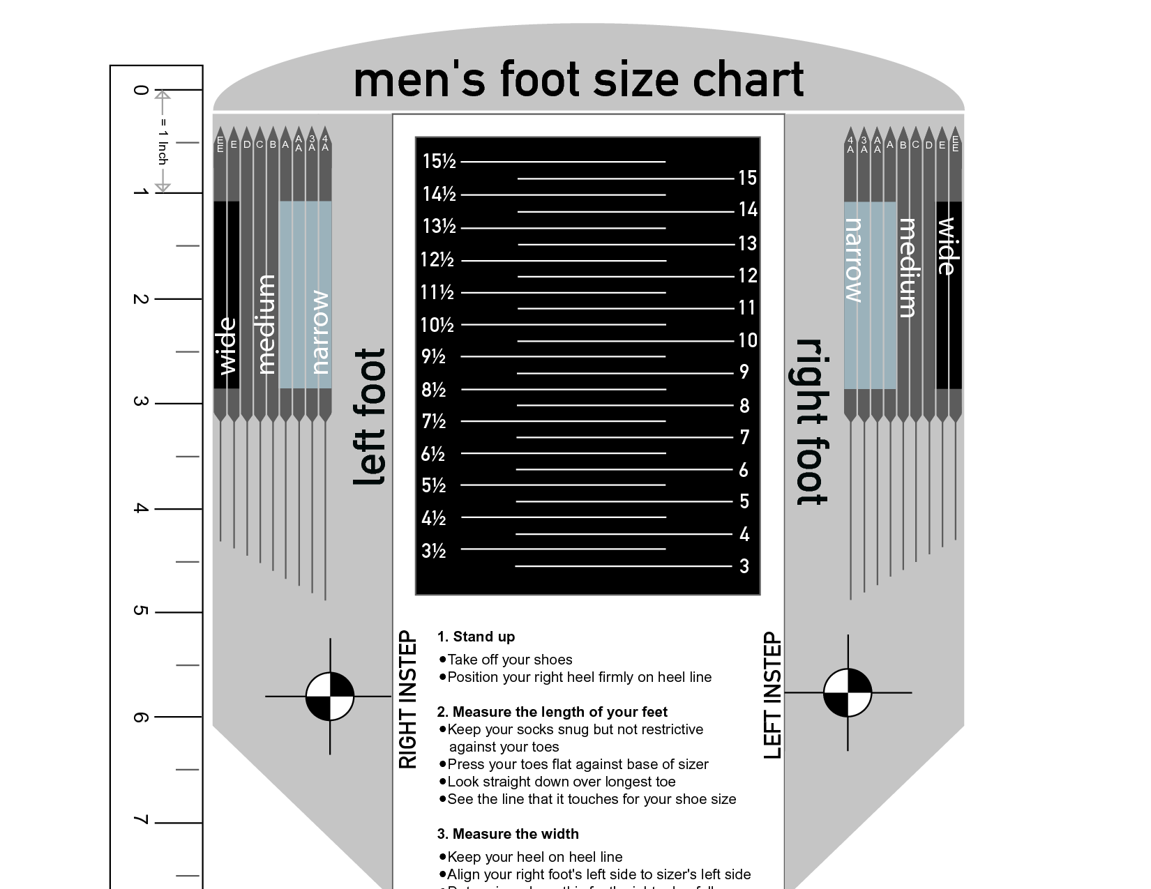 Mens Shoe Size Chart 2