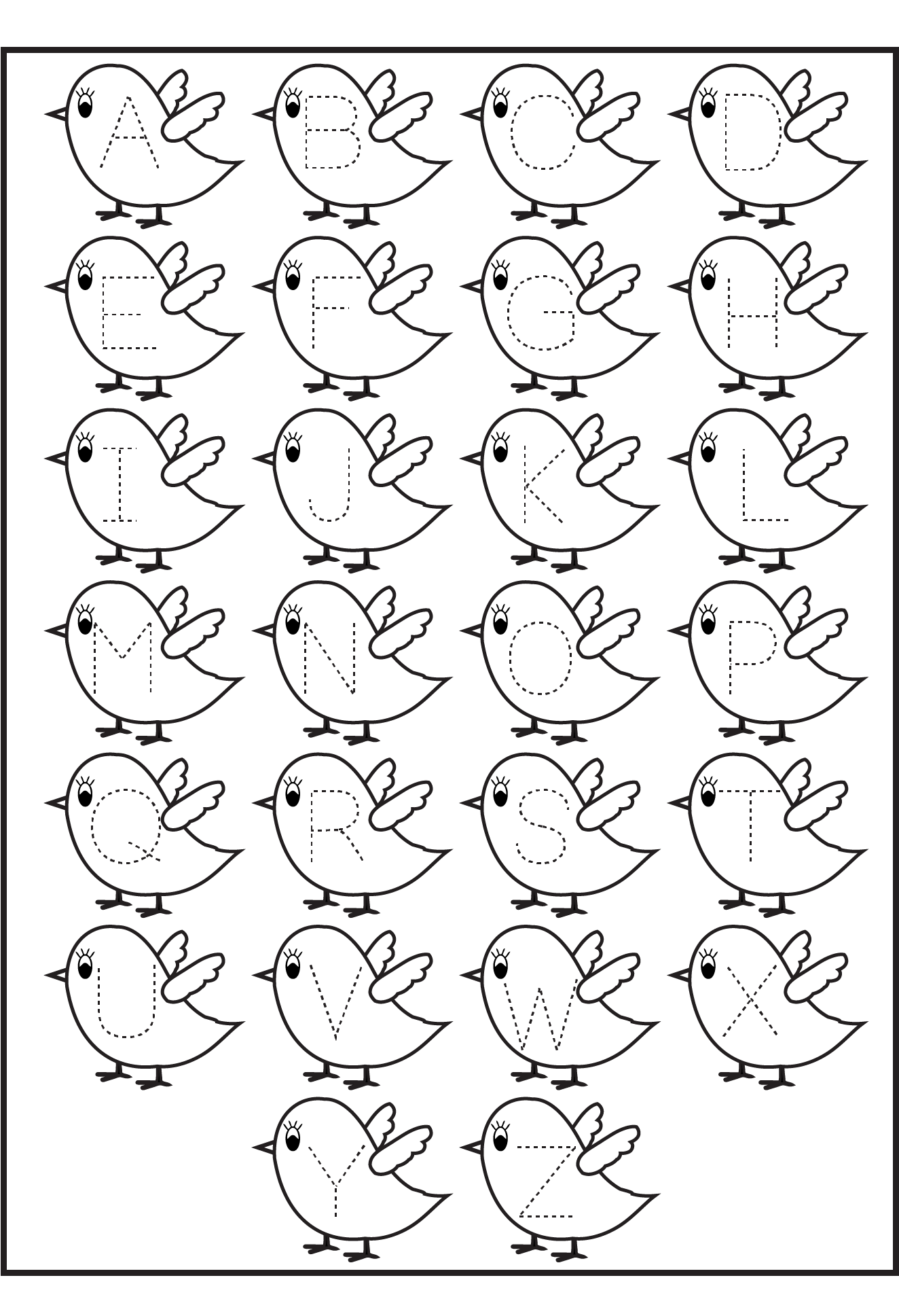 Printables for Kids 2014 birds