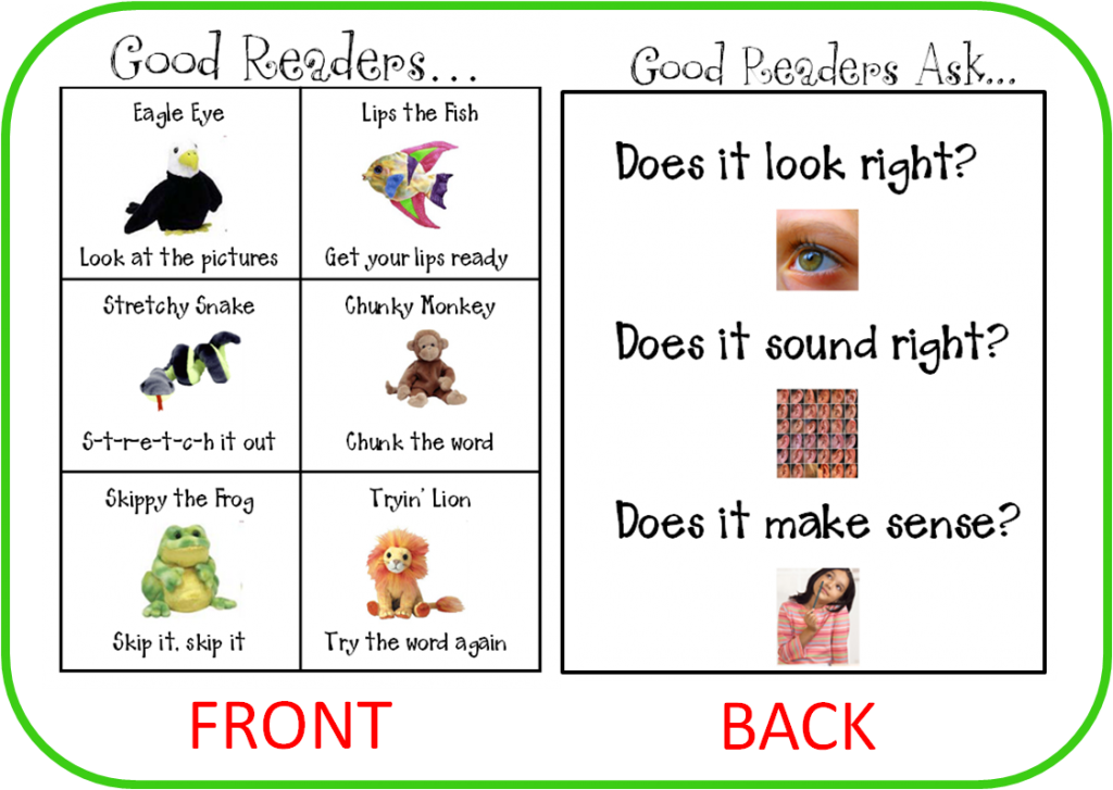 Reading Strategies for Kids Printable 2