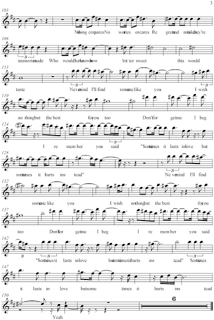 Someone Like You Sheet Music 1