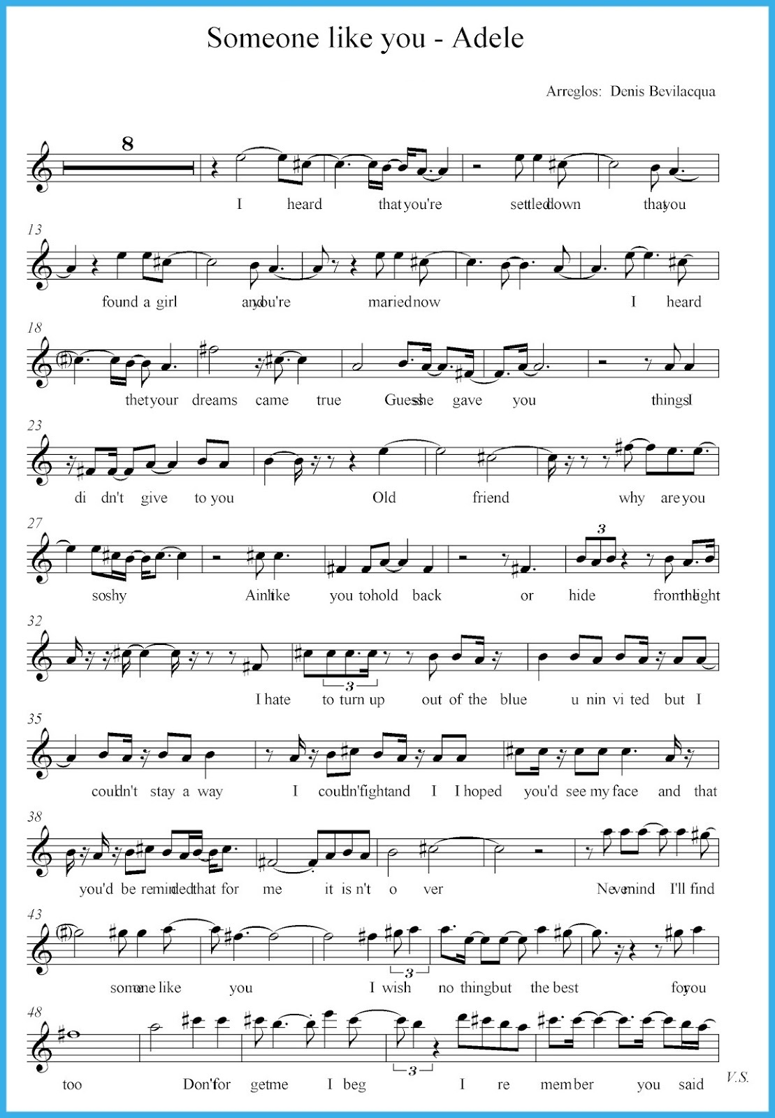 Someone Like You Sheet Music 3