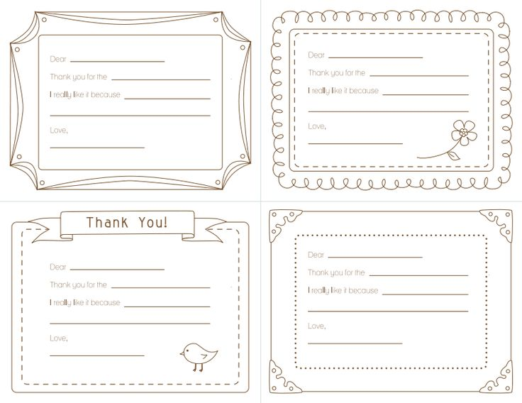 Thank You Note Templates 5