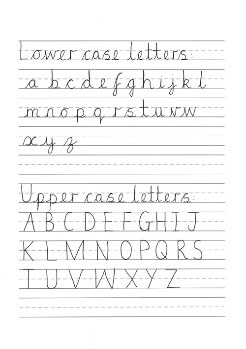 handwriting sheets for primary school 2