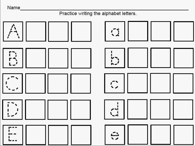 handwriting sheets for primary school 4