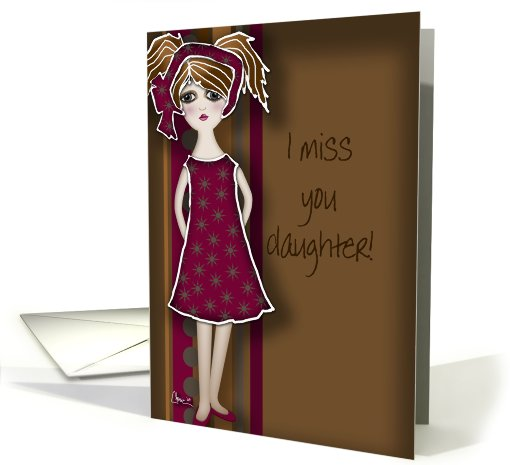 miss you cards for daughter 4
