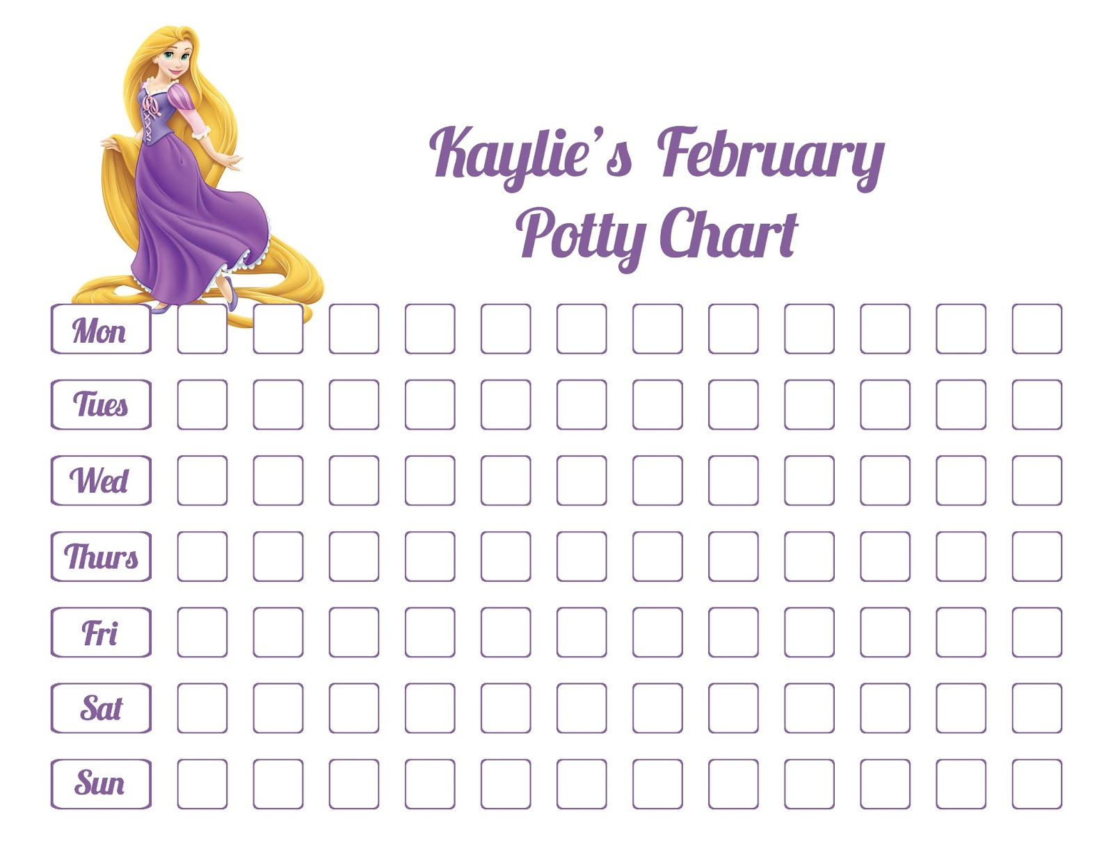 potty charts for little girls 4