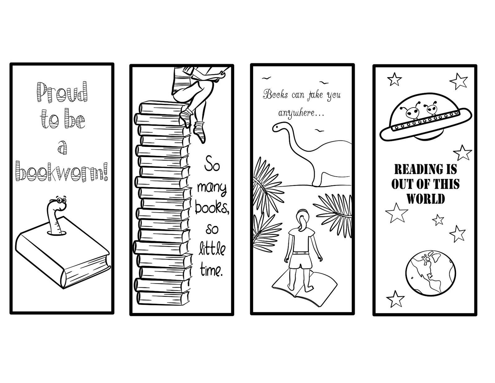 printable bookmarks to color 2