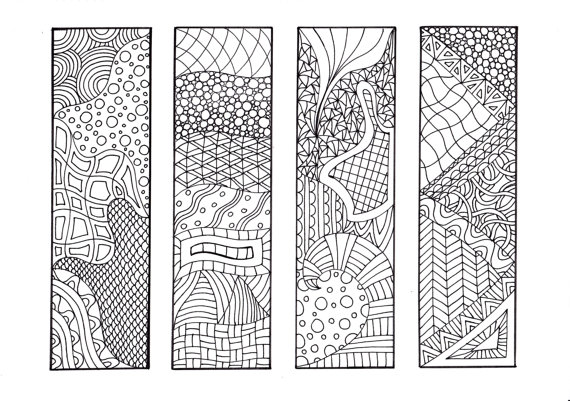 printable bookmarks to color 3