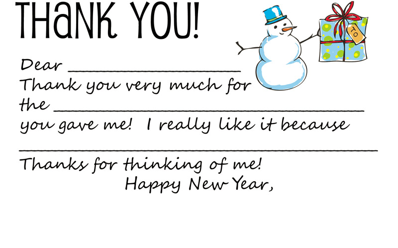 thank you note template for a gift 1
