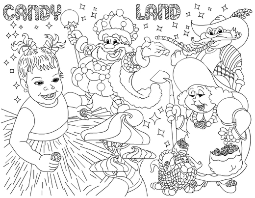 Candyland Coloring Pages 1
