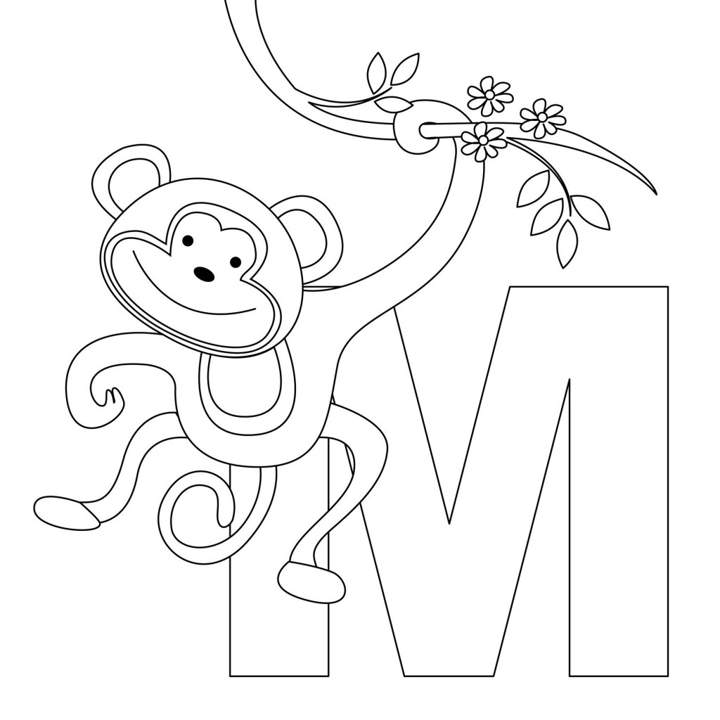 Coloring Pages of Monkeys 2