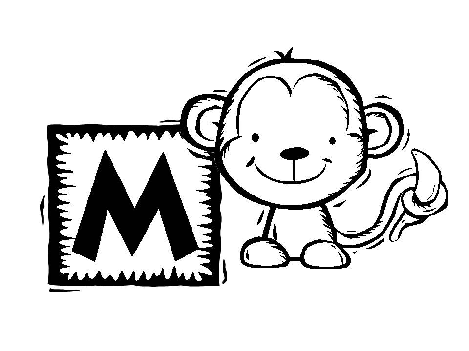 Coloring Pages of Monkeys 9