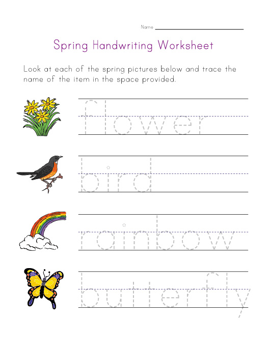 Free Handwriting Worksheets for Kids 6