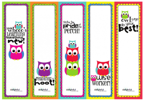 Printable Bookmarks for Kids 1