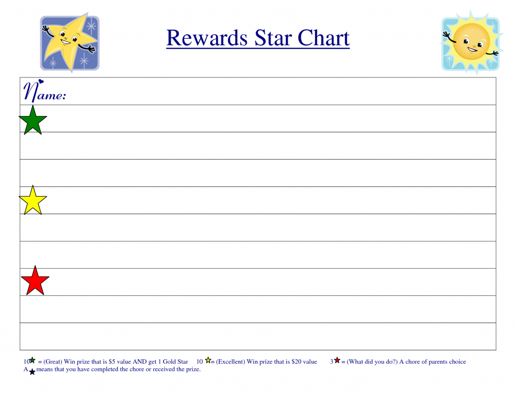 Reward Chart Template 10
