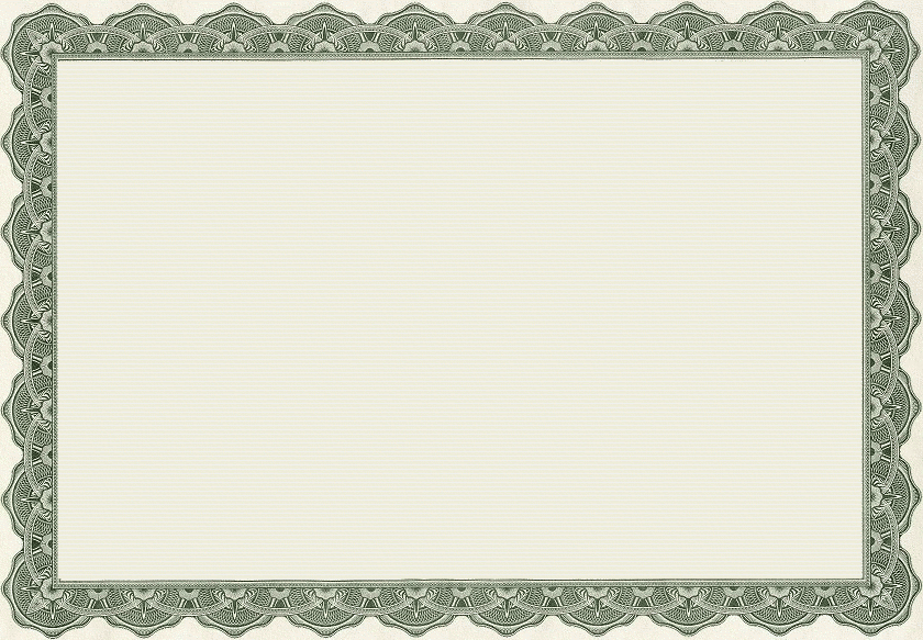 Blank Certificate Templates Border